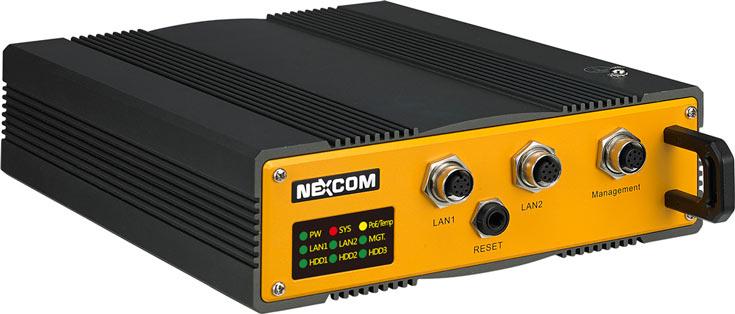 Сетевое хранилище в усиленном исполнении Nexcom iNAS 330 оснащено тремя портами Gigabit Ethernet