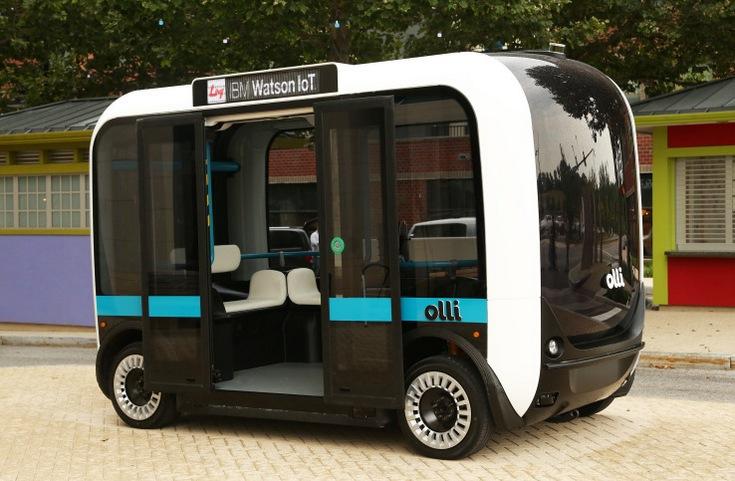 На дороги Вашингтона выпустили беспилотный автобус Olli