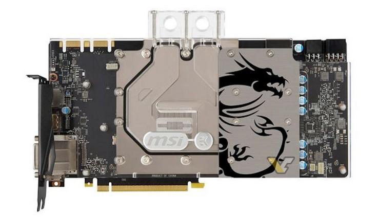 MSI представила видеокарты Nvidia Pascal, оснащённые водоблоками с полным покрытием