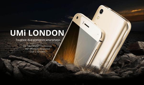 Экран смартфона Umi London защищен по технологии DG Twin Shield - 1