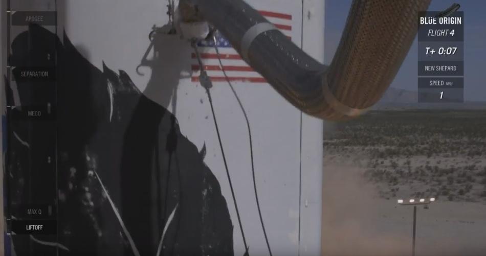 Четвертая посадка New Shepard: научные эксперименты, тест отказа парашюта и первая полная трансляция пуска - 15