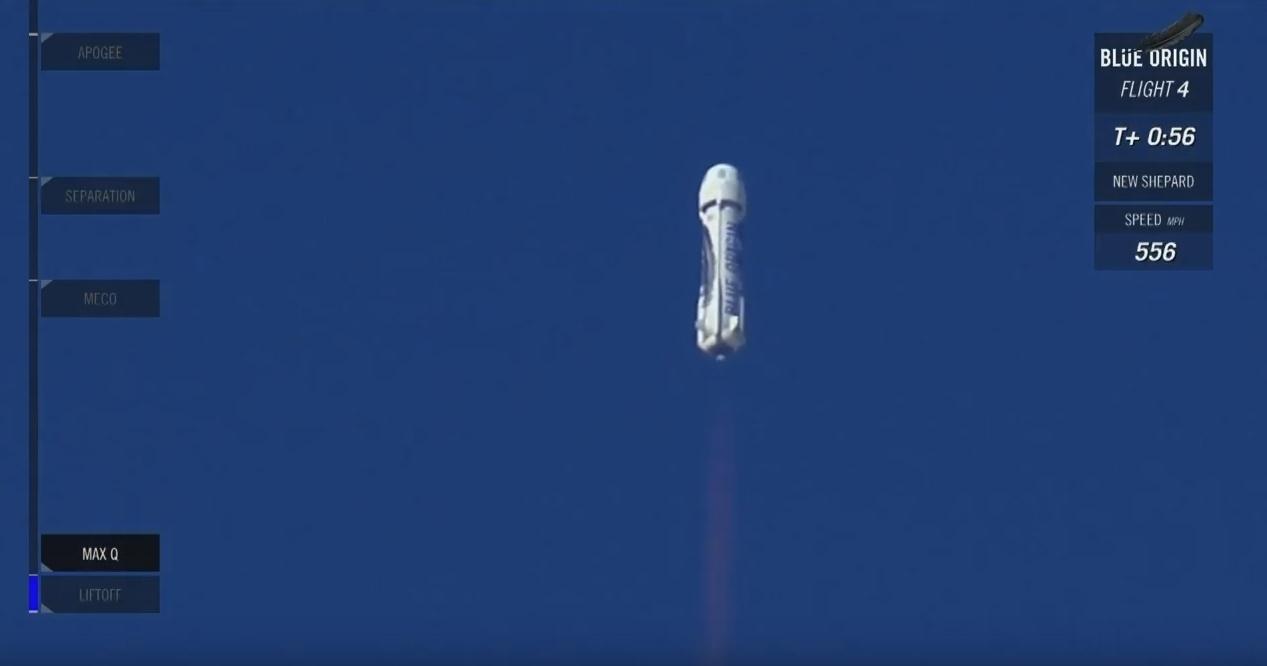 Четвертая посадка New Shepard: научные эксперименты, тест отказа парашюта и первая полная трансляция пуска - 16