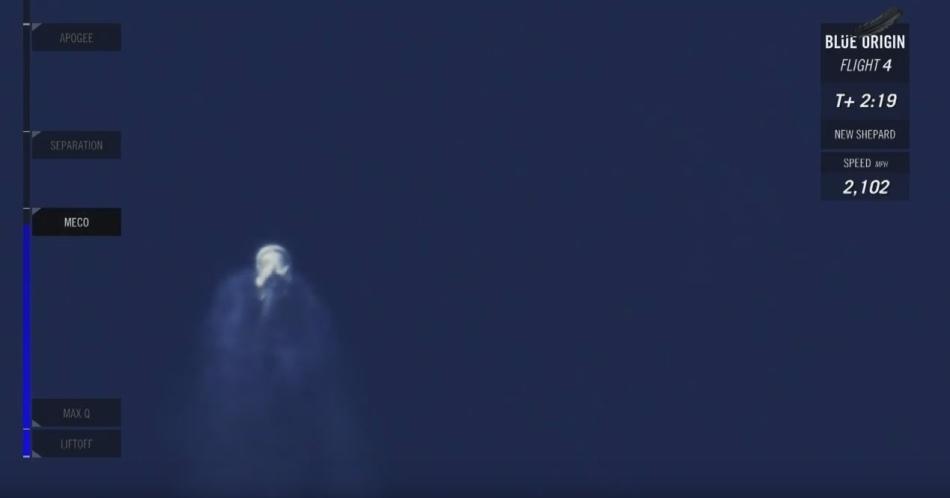 Четвертая посадка New Shepard: научные эксперименты, тест отказа парашюта и первая полная трансляция пуска - 17