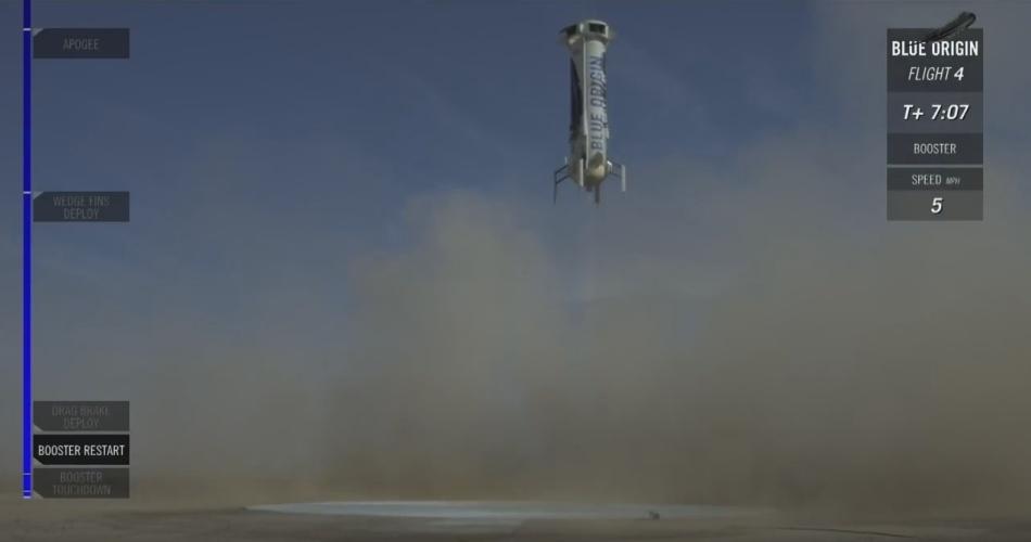 Четвертая посадка New Shepard: научные эксперименты, тест отказа парашюта и первая полная трансляция пуска - 21