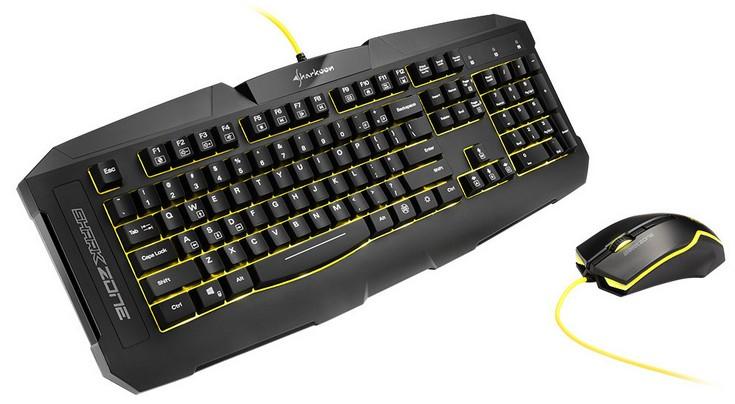 Комплект Sharkoon Shark Zone GK15 получил оригинальные клавиатуру и мышь