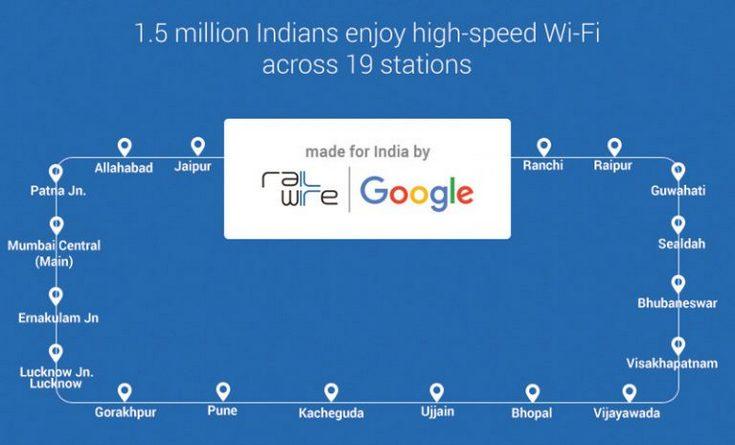 Google постепенно обеспечивает вокзалы Индии доступом к Сети