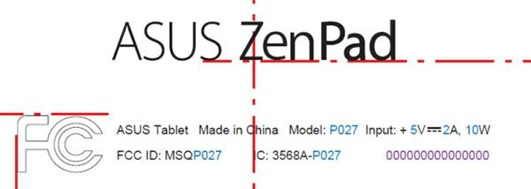 Asus P027: маркировка