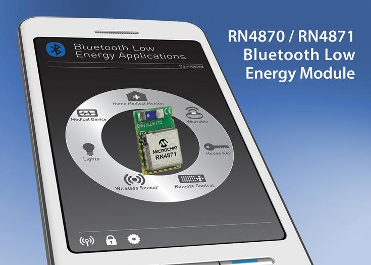 Модули Microchip RN4870 и RN4871 предназначены для мобильных и встраиваемых систем