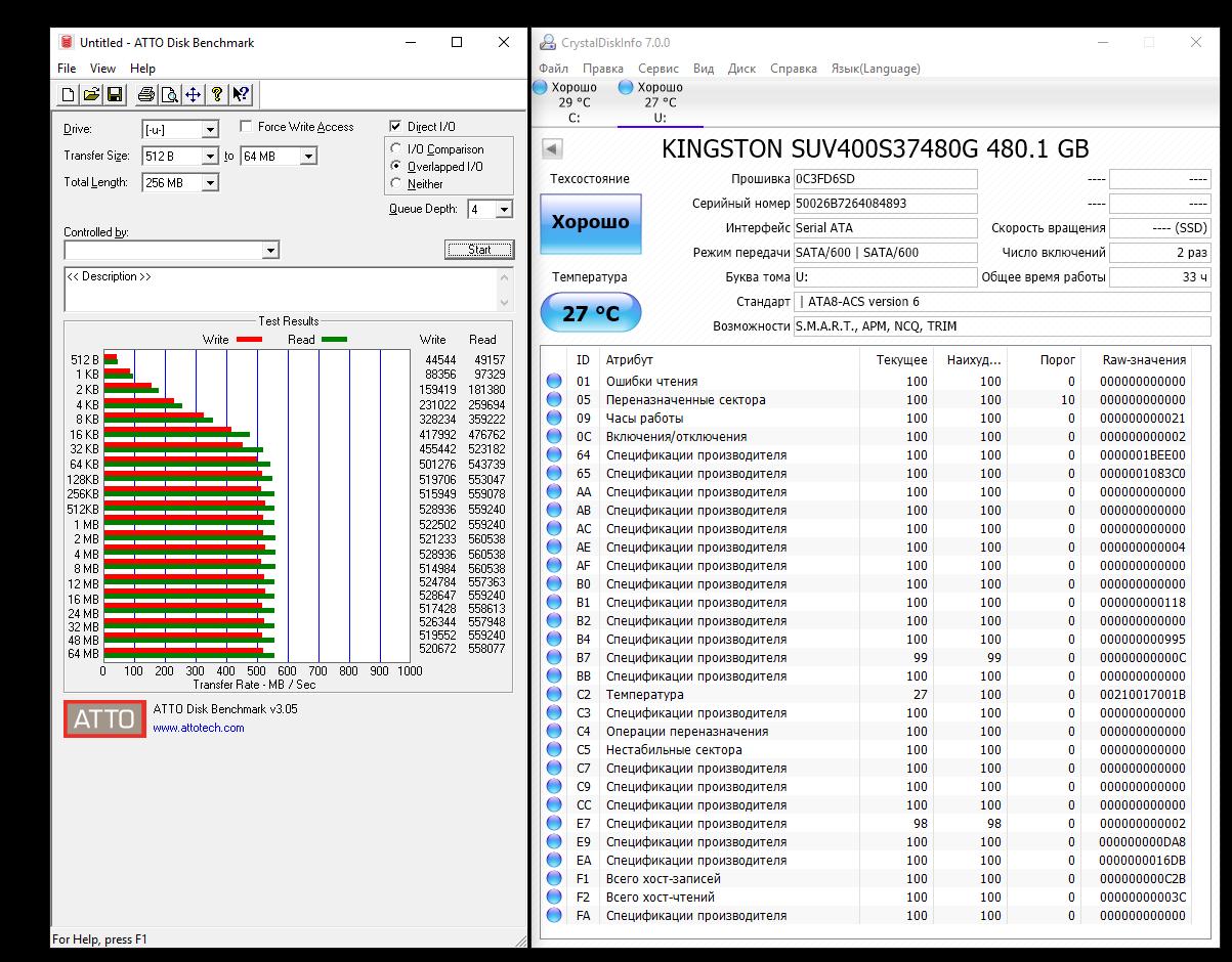 Обзор твердотельного накопителя Kingston UV400 480 Gb — SSD с «изюмом» - 10