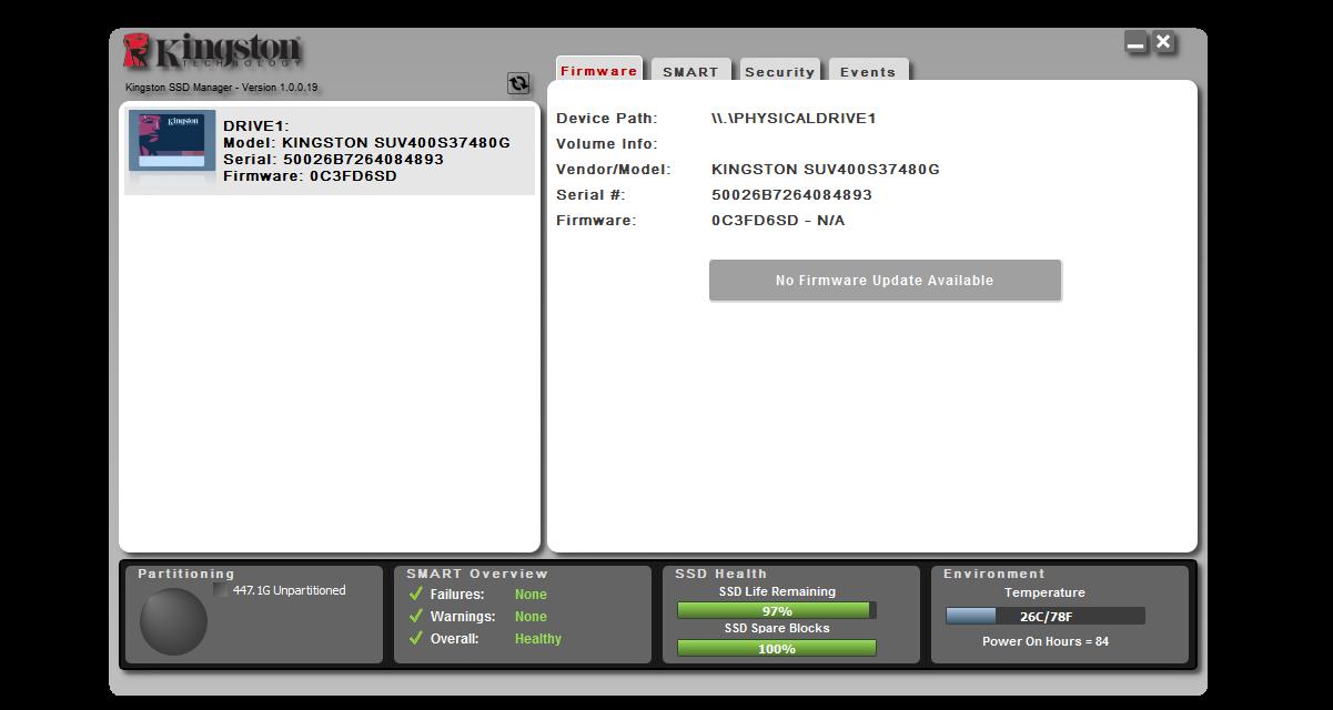 Обзор твердотельного накопителя Kingston UV400 480 Gb — SSD с «изюмом» - 4