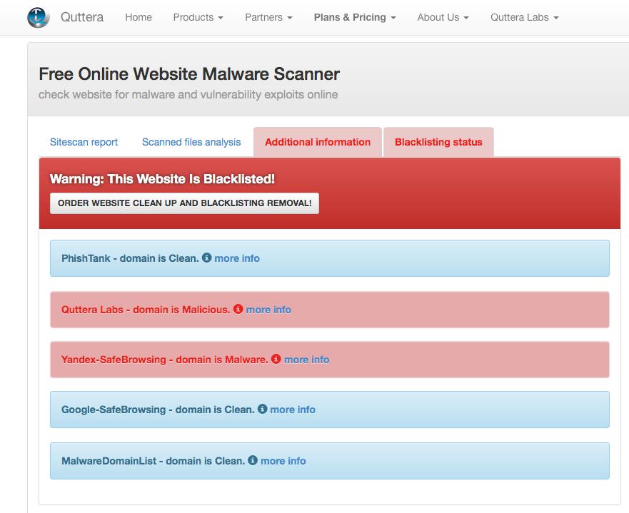 Веб-сервисы для проверки сайтов на вирусы - 5