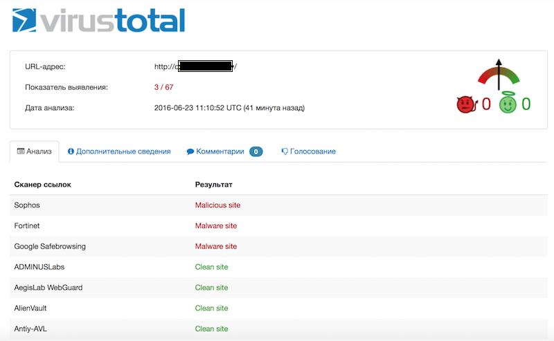 Веб-сервисы для проверки сайтов на вирусы - 9