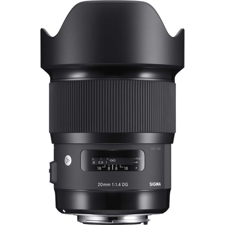 Цена объектива Sigma 20mm f/1.4 DG HSM Art — $899