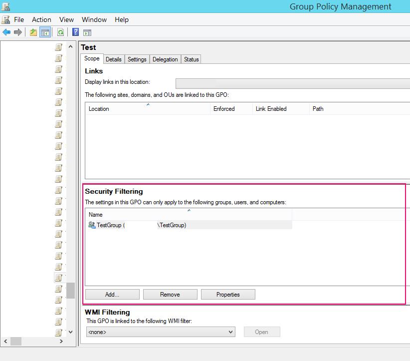 Список фильтров безопасности(security filtering)