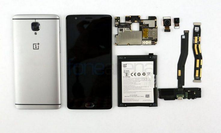 Смартфон OnePlus 3 заработал высокий балл за ремонтопригодность