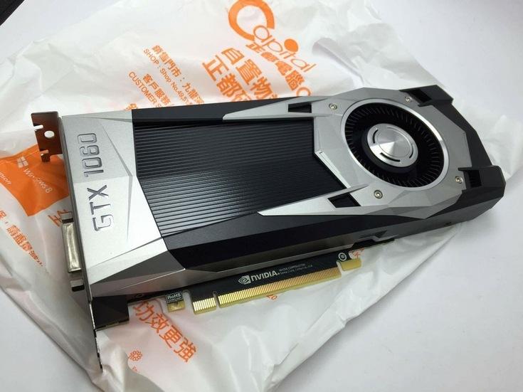 Карта GeForce GTX 1060 засветилась на первом фото