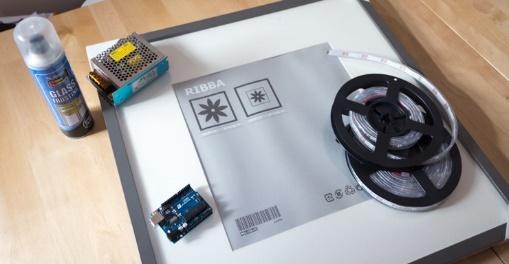 Проект за пару дней: большой дисплей из светодиодных лент - 2