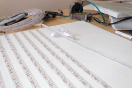 Проект за пару дней: большой дисплей из светодиодных лент - 5