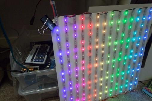 Проект за пару дней: большой дисплей из светодиодных лент - 8