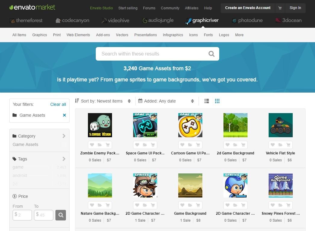 10 полезных сайтов с 2D ресурсами для игр - 4