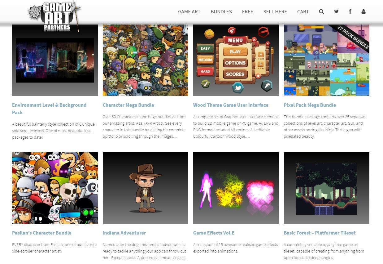 10 полезных сайтов с 2D ресурсами для игр - 6