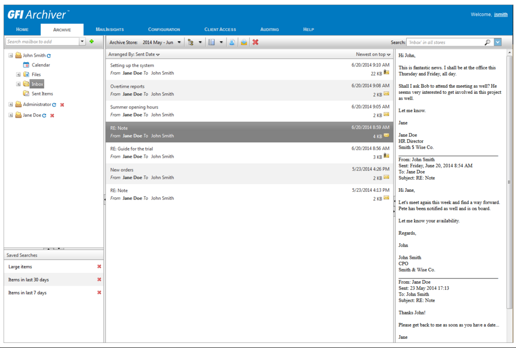 GFI Archiver: хранилище для почты - 2