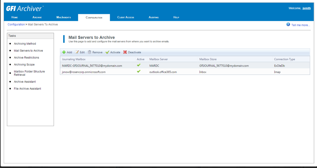 GFI Archiver: хранилище для почты - 3