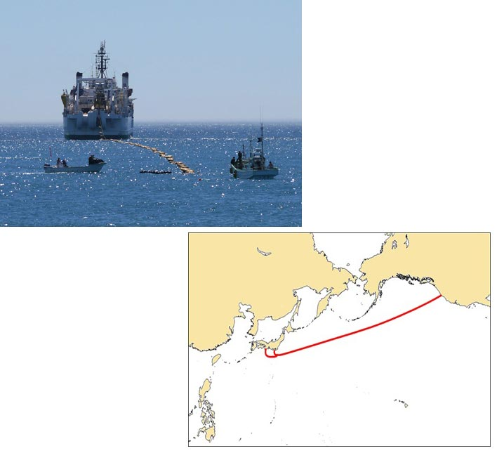 Кабельная система FASTER связала США и Японию