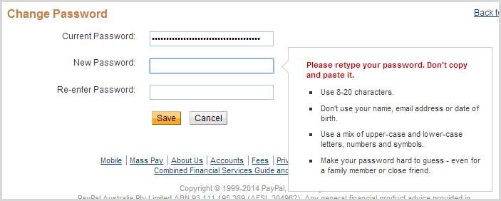 Эффект кобры. Кейлоггер на eBay и запрет на копипаст пароля - 3