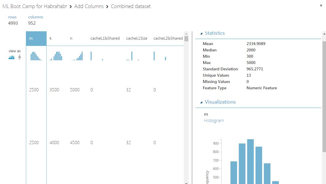 Решаем «Первый открытый контест» от Mail.ru по Data Science с помощью Azure ML (введение в Azure ML) - 8