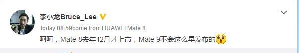 Смартфон Huawei Mate 9 будет представлен не раньше 1 сентября