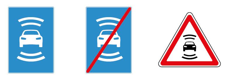 В России разработаны дорожные знаки для беспилотных автомобилей - 1