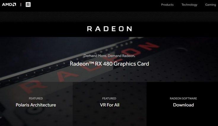 У видеокарт AMD Radeon появился собственный сайт