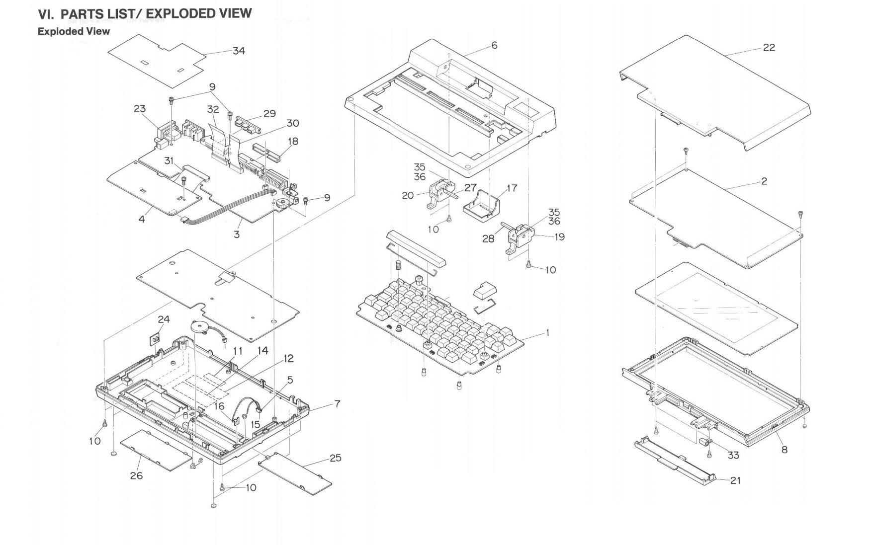 Ноутбук Tandy TRS-80 model 200 - 9