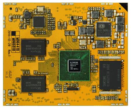 Модуль Boardcon Mini6818 устанавливается на дочернюю плату, совместимую с другими решениями Boardcon