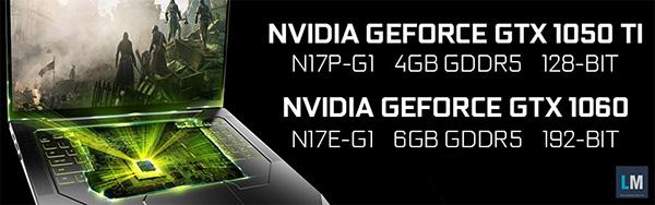 Nvidia GeForce GTX 1050Ti и 1060: объемы памяти и разрядность шин