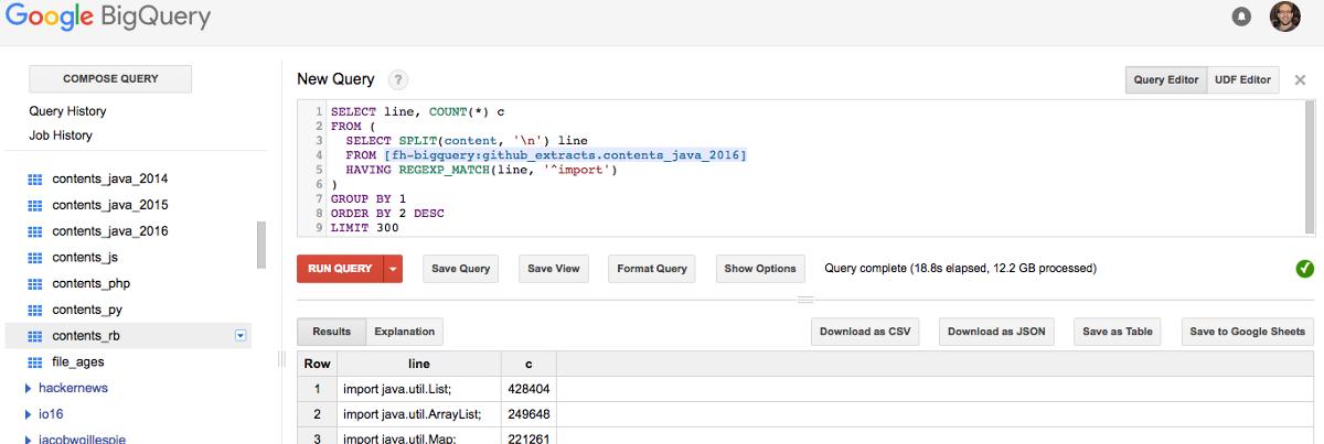 База свободных репозиториев Github доступна через интерфейс BigQuery - 1