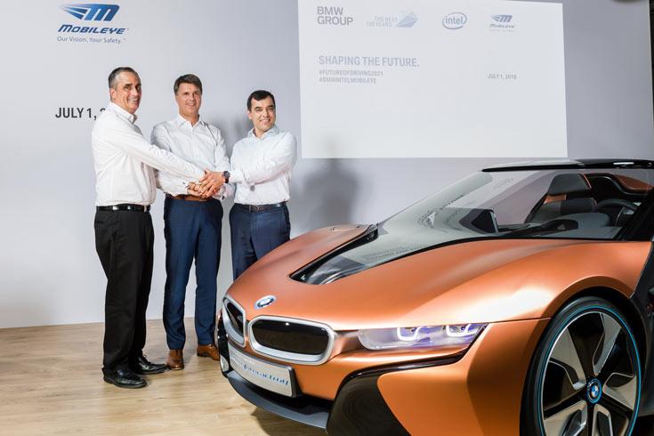 BMW Group, Intel и Mobileye рассчитывают вывести самоуправляемые автомобили на улицы к 2021 году