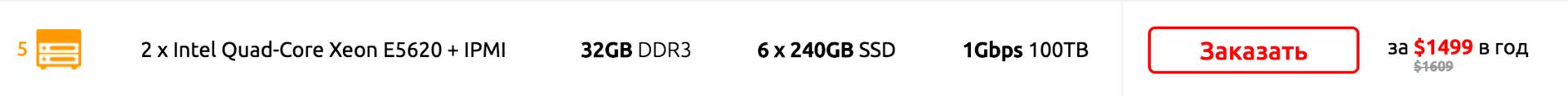 Cерверы с «устаревшими» CPU или более высокая цена? Мы нашли компромисс! 2 x E5620 - 32GB DDR3 - 6 x 240GB SSD - 1Gbps? - 6