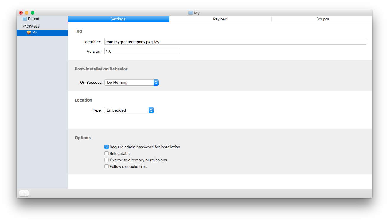 Platypus и Packages. Создаём и устанавливаем программы на macOS - 6
