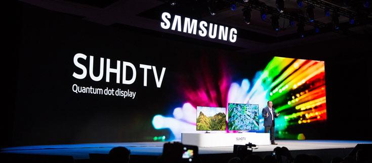 Samsung дает ставку на использование в телевизорах панелей QLED, а не OLED