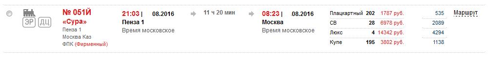 История покупки одного билета на сайте РЖД - 2