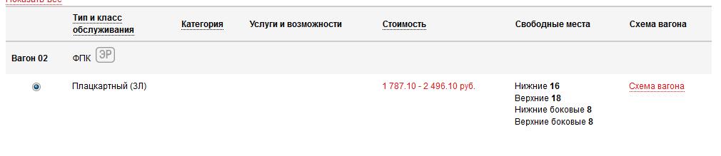 История покупки одного билета на сайте РЖД - 3