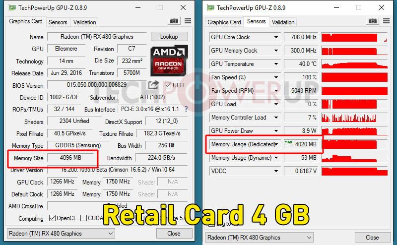 Перепрошивка Radeon RX 480 превращает 4-гигабайтную версию в 8-гигабайтную - 6
