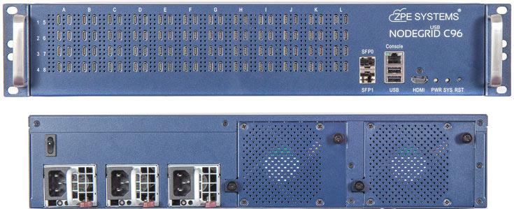 Основой сервера служит четырехъядерный процессор Intel, который работает под управлением ОС NodeGrid на базе Linux