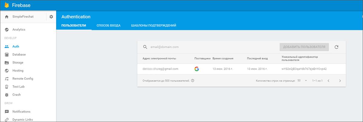 По следам Google I-O 2016 — новый Firebase: интеграция с Android - 14