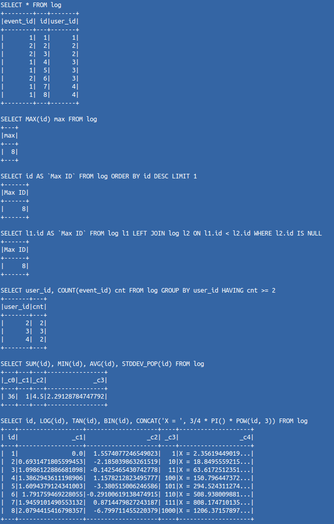 Анализ логов с помощью SQL? - 1
