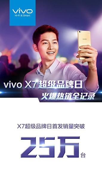Vivo X7 нашел более 250 000 обладателей за первый день