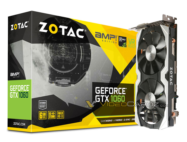 О цене 3D-карты Zotac GeForce GTX 1060 AMP! данных пока нет