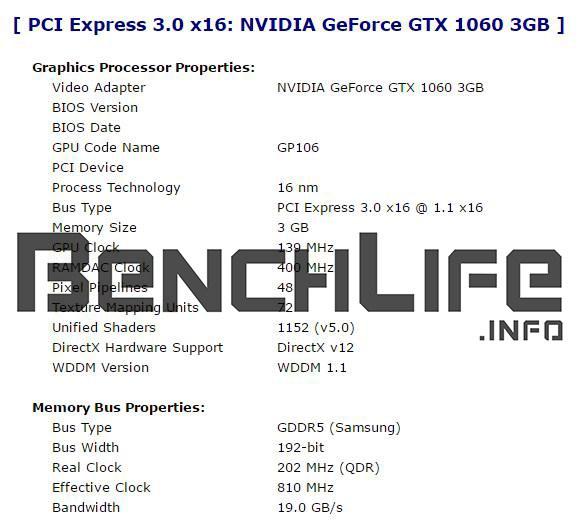 Видеокарта GeForce GTX 1060 с 3 ГБ памяти будет отличаться от старшей сестры конфигурацией GPU